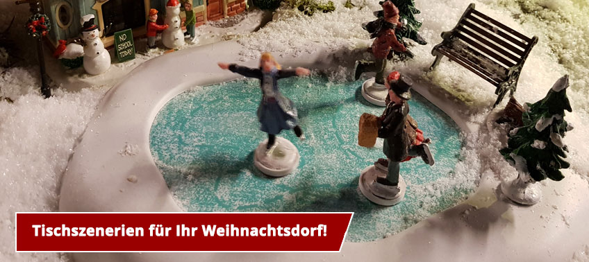 Szene für ihr Weihnachtsdorf!