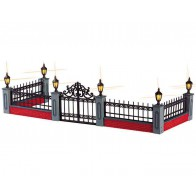 Lemax Lighted Wrought Iron Fence, Set/5