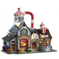 Lemax Bell'S Gourmet Popcorn Factory + 4,5 Volt Adapter