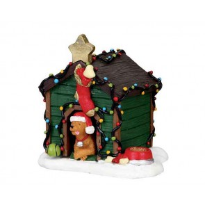 Lemax Decorated Light Doghouse