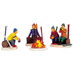 Lemax Skiers' Camp Fire
