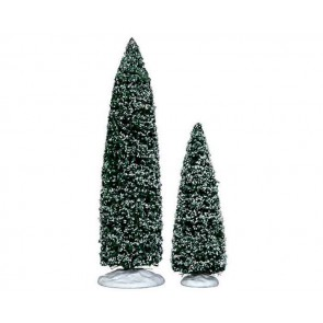 Lemax Snowy Juniper Tree, Large & Medium