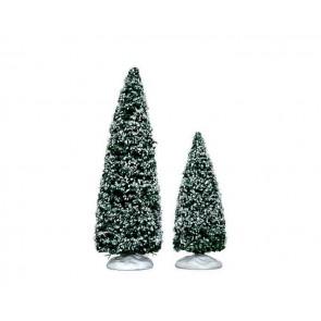 Lemax Snowy Juniper Tree, Medium & Small
