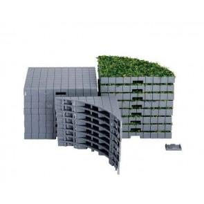Lemax Plaza System (Grey, Round Grass)