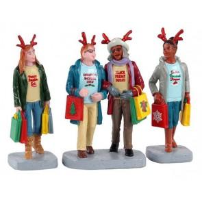 Lemax Girls Christmas Shopping Trip