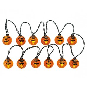 Lemax Lighted Pumpkin Garland String, Count Of 12
