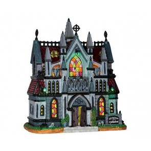 Lemax All Hallows Cathedral + 4,5 Volt Adapter
