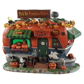 Lemax Pick Me Pumpkin Wagon