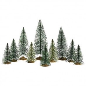 Lemax Needle Pine Trees 10pc
