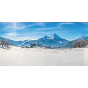 My Village Hintergrund Tuch - Alpen150x75CM