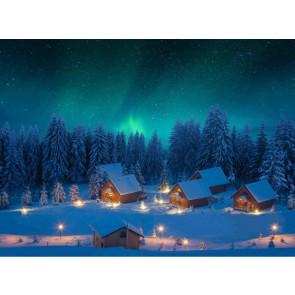 My Village Hintergrund Tuch LED - Nordlichter 76X56cm