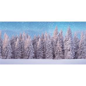 My Village Hintergrund Tuch Schnee Wald Xl 300X150Cm