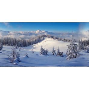 My Village Hintergrund Tuch Winterwald  150X75Cm