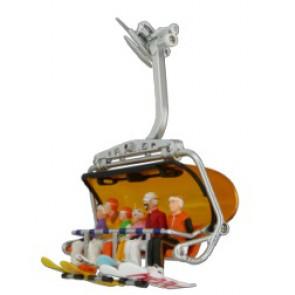 Jägerndorfer Figuren sitzend 6 x  + Snowboards