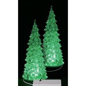 Lemax Crystal Lighted Tree, 3 Color Changeable, Medium 2 pc