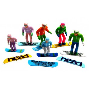 Jägerndorfer stehende Figuren 5 x + Ski's